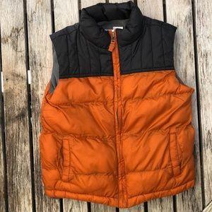 Toddler Boy's Orange & Black Puffy Vest